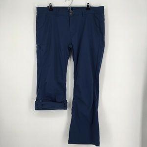 Prana Halle Pants Navy Blue Adjustable Length